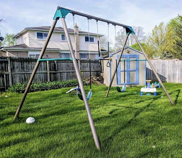 swing in a garden