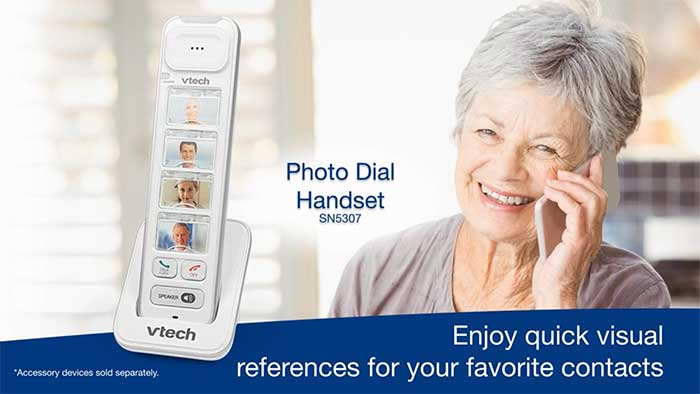 Old woman using a phone