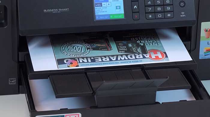 A3 paper tray on a business printer