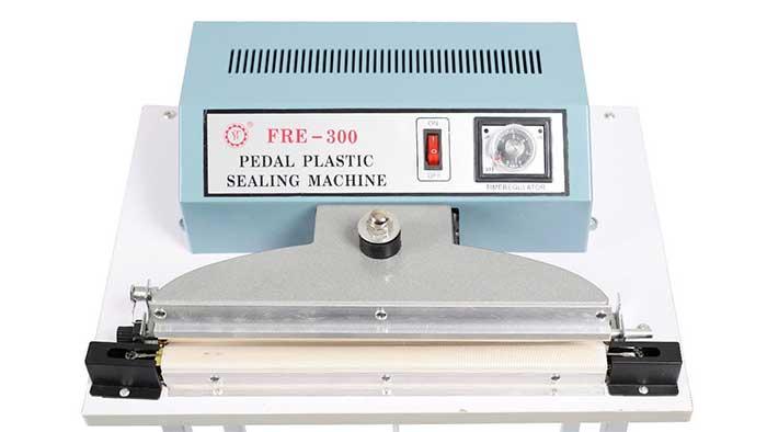 Pedal operated sealing machine