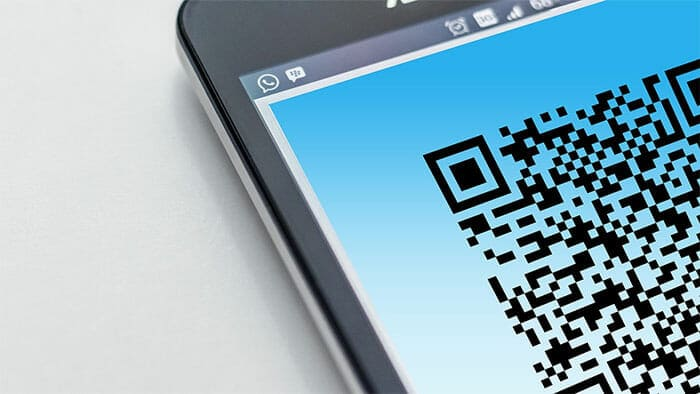 Phone scanning app with a qr code