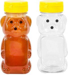 plastic bear honey squeeze bottles