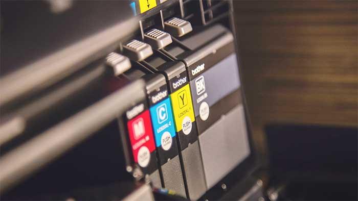 Printer ink toner closeup