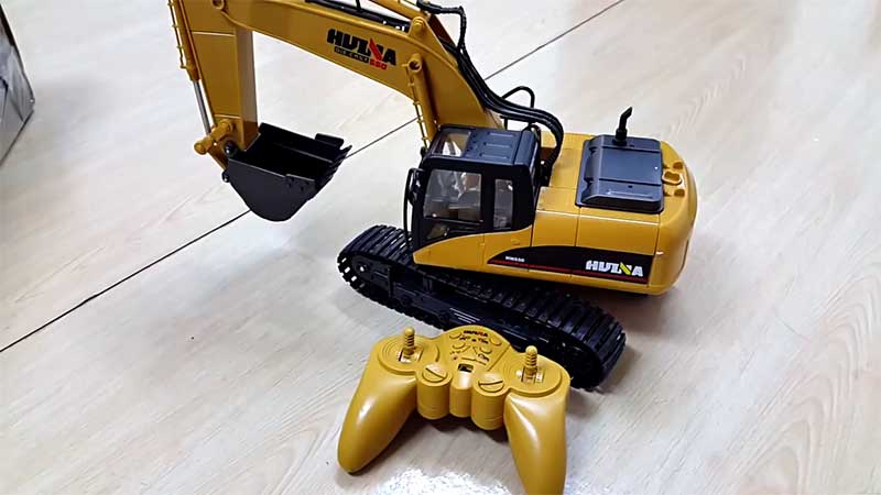 remote controlled construction excavator