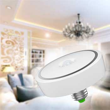 Room enlightened by a light bulb