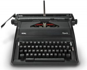 royal manual typewriter image