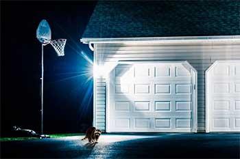 House with a security light bulb