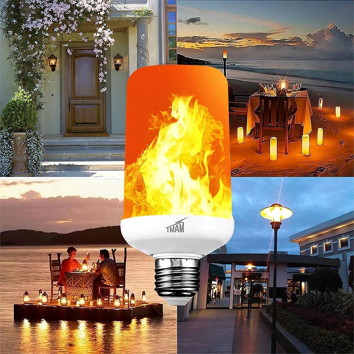 single fire indigo led flame bulb image
