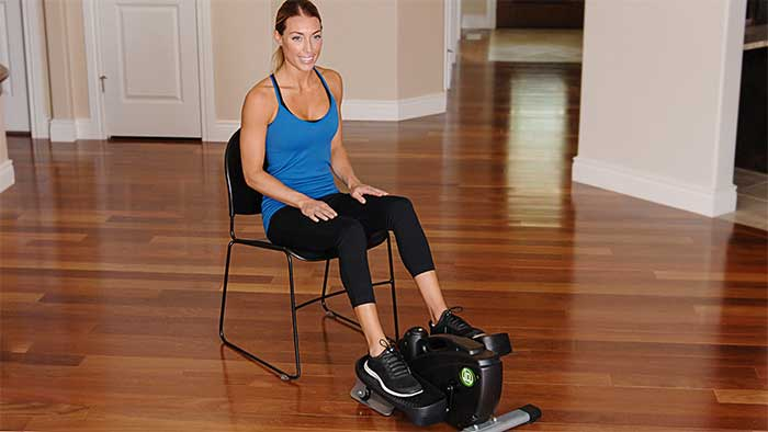stamina inmotion compact strider on a wooden floor