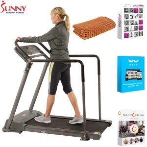 sunny health recovery treadmill image