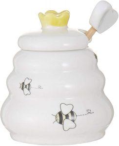 sweet as can bee ceramic honey pot