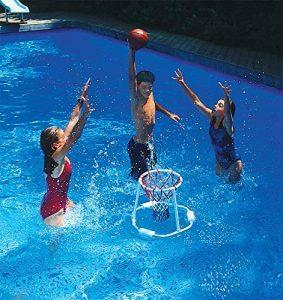 swimline super hoops floating basketball game image