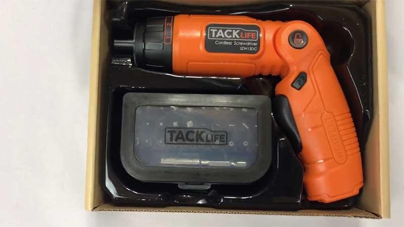 Tacklife screwdriver packaging