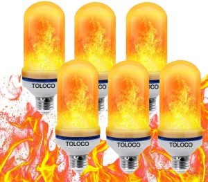 toloco led flame effect light bulb image