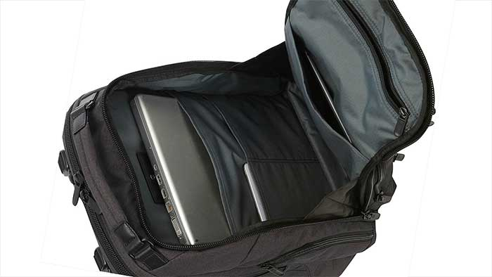 Victorinox rath backpack with a laptop inside