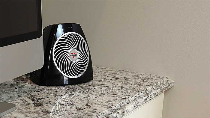 vornado heater on a table top