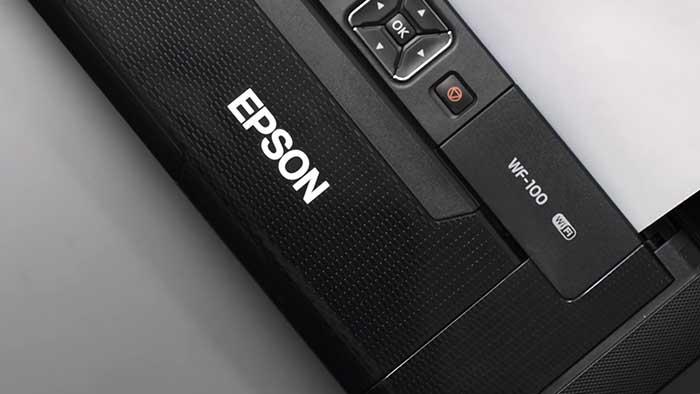 epson wf-100 printer closeup