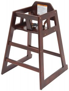 winco chh 103 wooden high chair image