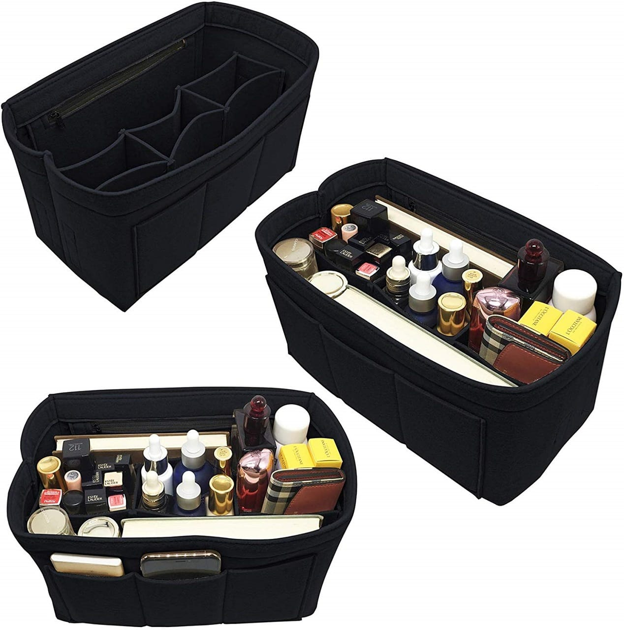 x gift luxury felt purse organizer image